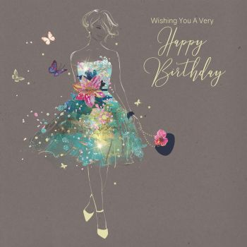 Chic Birthday Cards For Her - WISHING You A VERY Happy Birthday - UNIQUE Birthday CARDS - BIRTHDAY Card FOR Wife - GIRLFRIEND - Partner - Best FRIEND