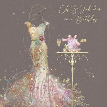 Fabulous On Your Birthday - Birthday Cards For Her - UNIQUE Birthday CARDS - BIRTHDAY Card FOR Wife - GIRLFRIEND - FRIEND - Auntie - DAUGHTER In LAW