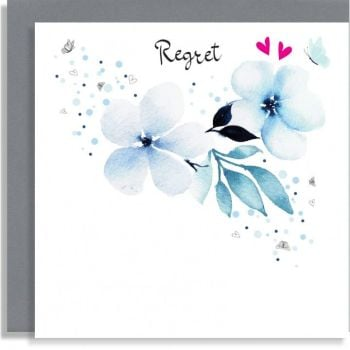 Pretty Floral Regret Card - Wedding REGRET Card - HAND Finished REGRET Cards - Acceptance & REGRET Cards - DECLINE & Regret CARDS