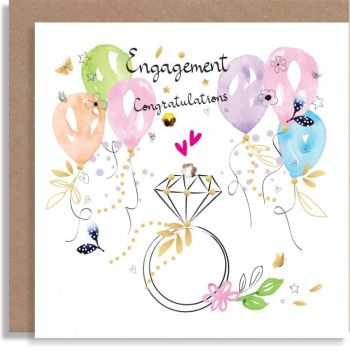 Engagement Cards - ENGAGEMENT Congratulations - UNIQUE Engagement CARDS - Engagment RING Card  - CONGRATULATIONS Card