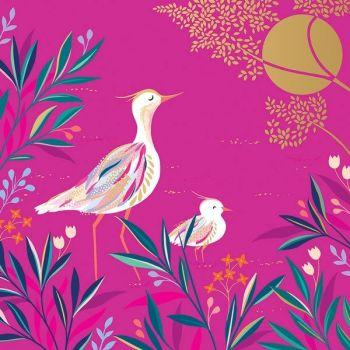 Beautiful Birthday Cards - ELEGANT Pink BIRDS Card - Birthday CARDS For HER - GOLD Foil BIRTHDAY Card - Birthday CARD For MUM - SISTER - Granddaughter