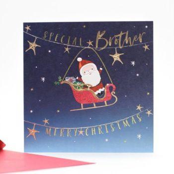 Brother  Christmas Cards - CHRISTMAS Cards For KIDS - MERRY Christmas - SPECIAL Brother CHRISTMAS Cards - CUTE Reindeer Xmas CARD