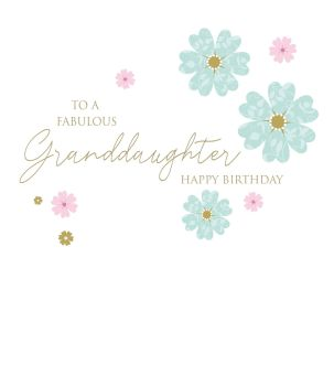 Fabulous Granddaughter Birthday Cards - HAPPY BIRTHDAY - Granddaughter BIRTHDAY Cards - PRETTY Floral Birthday CARD - Birthday CARDS For GRANDDAUGHTER