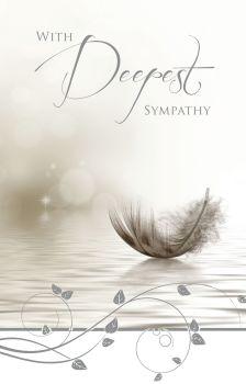 Stylish Sympathy Card - WITH Deepest SYMPATHY - Beautiful SYMPATHY Card - Bereavement CARDS - CONDOLENCE Cards - SYMPATHY Card FOR FRIEND