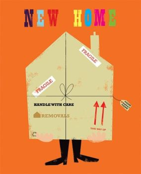 Funny New Home Greeting Cards - NEW Home CARDS - Handle WITH Care - PACKING Box MOVING Home CARD - First HOME Cards - New HOUSE Cards