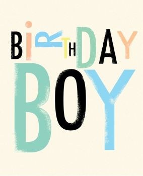 Birthday Boy - BIRTHDAY Cards For HIM - Retro STYLE Birthday CARDS - Fun BIRTHDAY Card FOR Friend - SON - Nephew - COUSIN - Grandson - BROTHER