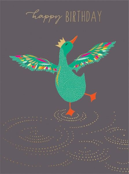 Happy Birthday Card - DANCING Duck Card - FUNNY Birthday Card For HER - QUI