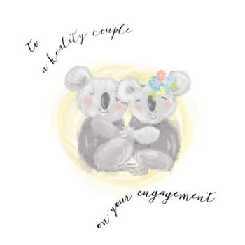 Funny Engagement Cards - TO A KOALITY Couple - ENGAGEMENT Cards - Koala BEAR CARD - Cute ENGAGEMENT Card -  ENGAGEMENT Cards ONLINE