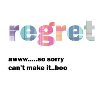 RSVP Regret Cards - AWW SO Sorry Can't MAKE It BOO - WEDDING Regret WEDDING Cards - COLOURFUL Regret CARD - Scottish WEDDING Regret CARDS