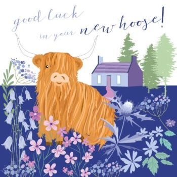 Good Luck In Your New Hoose - NEW Home CARDS - NEW House GREETING Cards - CUTE New HOME Card - NEW Home & ADDRESS Cards