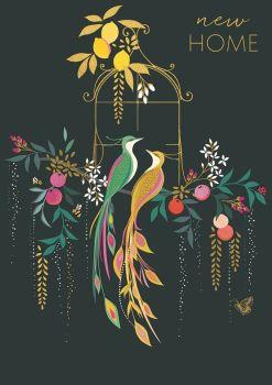 Beautiful Birds & Blossom New Home Card - NEW Home CARDS - First HOME Cards - NEW House CARDS - MOVING House CARDS