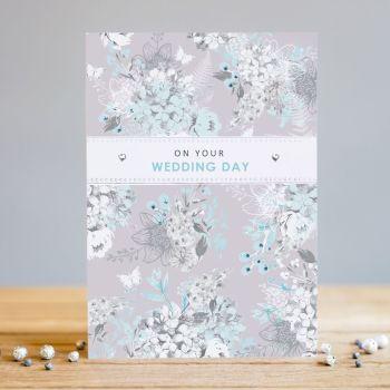 On Your Wedding Day - WEDDING Day CARDS - Boutique WEDDING Day - PRETTY Gem Embellished WEDDING Card - WEDDING CARDS