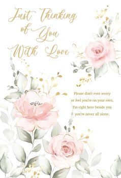 Just Thinking Of You With Love - THINKING Of YOU Cards - SYMPATHY Cards - PRETTY Floral THINKING Of You CARD - Condolence CARDS