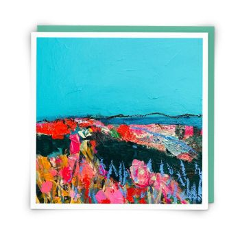 Blank Greeting Cards - BLUE HORIZON - Landscape CARDS - Landscape BLANK ART Greeting CARDS - Art CARDS - Greeting CARDS Online