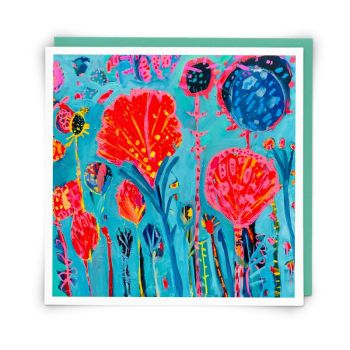 Blank Greeting Cards - WILD FLOWERS - Landscape CARDS - Floral BLANK ART Greeting CARDS - Art CARDS - Greeting CARDS Online