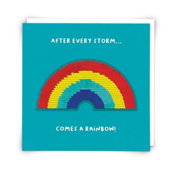After Every Storm Comes A Rainbow - INSPIRATIONAL Cards - MOTIVATIONAL Cards - UNIQUE Rainbow SEQUIN Card - THINKING Of YOU Cards - FRIENDSHIP Cards