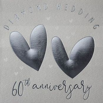 60th Anniversary Cards - DIAMOND Wedding 60th ANNIVERSARY - Diamond WEDDING Cards - 60th ANNIVERSARY - 60th ANNIVERSARY Cards