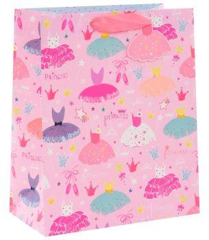 Princess Gift Bags - CHILDREN'S GIFT Bags - PRINCESS GIFT Bag LARGE - Princess PARTY Bags - LARGE Princess GIFT BAG With TAG - Princess BIRTHDAY
