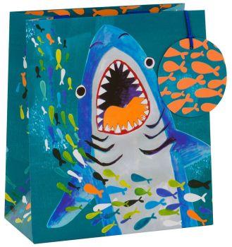 Sharks Gift Bags - CHILDREN'S GIFT Bags - SHARKS GIFT Bag MEDIUM - Shark PARTY Bags - MEDIUM GIFT BAG With TAG  - Kids GIFT Bags