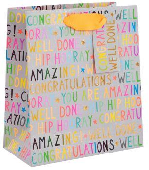 Congratulations Gift Bag - MEDIUM PORTRAIT - GIFT Bags - LUXURY Gift BAGS - Congratulations Gift BAG New HOME - New JOB - PROMOTION - GRADUATION
