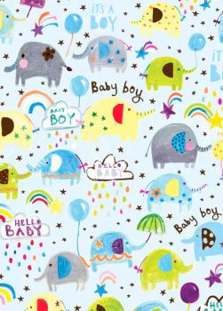 It's A Boy Wrapping Paper - 2 SHEETS Of LUXURY Gift WRAP - RECYCLABLE Wrapping Paper - Flat WRAP - WRAPPING Paper SHEETS - Cute BABY Boy GIFT WRAP