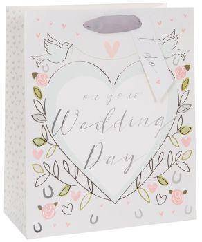 Wedding Gift Bags - ON Your WEDDING Day - LARGE Gift BAGS - Wedding DOVES Gift BAG - LUXURY Gift BAGS - Gift BAG For WEDDING Present