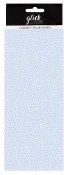 Blue & White Polka Dot Print Luxury Tissue Paper - Pack Of 4 LARGE Sheets - Luxury TISSUE Paper - GIFT Wrapping - BLUE & WHITE Polka DOT TISSUE Paper