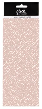 Pink & White Polka Dot Print Luxury Tissue Paper - Pack Of 4 LARGE Sheets - Luxury TISSUE Paper - GIFT Wrapping - PINK & WHITE Polka DOT TISSUE Paper