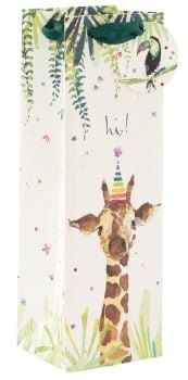 Adorable Giraffe Bottle Bag - WINE & Bottle GIFT Bags - BOTTLE Gift BAGS - Gift BAG - Gift WINE Bag - Bottle BAGS & Wine GIFT Bags