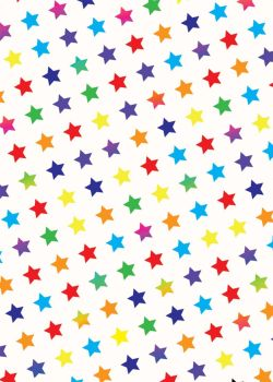 Rainbow Stars Wrapping Paper - 2 SHEETS Of LUXURY Gift WRAP - RECYCLABLE Wrapping Paper - Flat WRAP -  WRAPPING Paper SHEETS - BIRTHDAY Gift WRAP