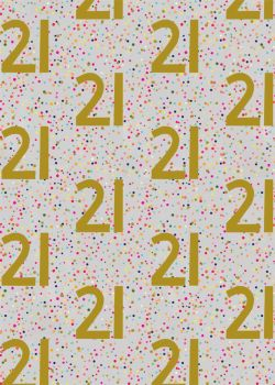 21st Birthday Wrapping Paper - 2 SHEETS Of LUXURY Gift WRAP - RECYCLABLE Wrapping Paper - Flat WRAP - WRAPPING Paper SHEETS - 21st BIRTHDAY Gift WRAP