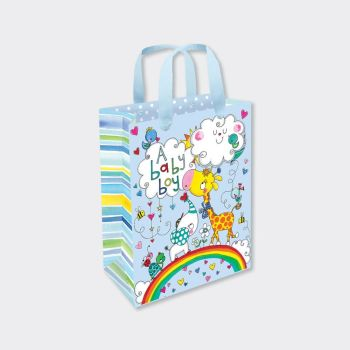 New Baby Boy Gift Bag - SMALL PORTRAIT Gift Bags - GIFT BAGS ‐ BABY Shower GIFT Bags - LUXURY New BABY Boy Gift BAGS