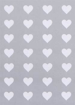 Silver/White Hearts Wrapping Paper - 2 SHEETS Of LUXURY Gift WRAP - RECYCLABLE Wrapping Paper - Flat WRAP - WRAPPING Paper SHEETS - Wedding - BIRTHDAY