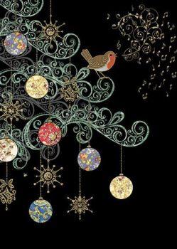 Beautiful Christmas Robin Christmas Card - STUNNING Christmas CARD - GOLD Foil CHRISTMAS Card - Unique CHRISTMAS Cards FOR Family & FRIENDS