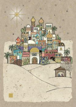 Beautiful Bethlehem Christmas Card - STUNNING Christmas CARD - GOLD Foil CHRISTMAS Card - Unique CHRISTMAS Cards FOR Family & FRIENDS