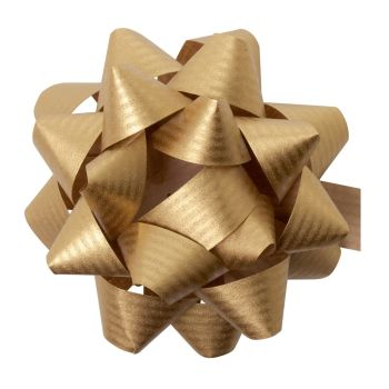 Eco Friendly Paper Gift Bows - GOLD - PACK Of 3 - RECYCLABLE Gift BOWS - Gift WRAP - Gift BOWS - GOLD Gift BOWS - 8cm GOLD Gift BOWS