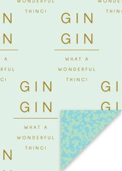 Gin Wrapping Paper - 2 SHEETS Of LUXURY Gift WRAP - RECYCLABLE Wrapping Paper - Flat WRAP - MOTHER'S Day - BIRTHDAY Gift WRAP
