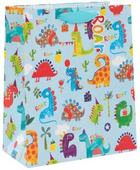 Dinosaur Gift Bags - CHILDREN'S GIFT Bags - LARGE GIFT Bag - DINOSAUR Birthday GIFT Bag - LARGE Gift BAG With TAG - GIFT Bags FOR KIDS