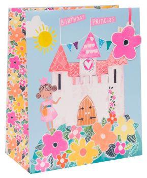 Birthday Princess Gift Bags - CHILDREN'S GIFT Bags - LARGE GIFT Bags - Princess PARTY Bags - LARGE GIFT BAG With TAG - Pretty BIRTHDAY Gift BAG