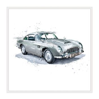 Aston Martin Cards - ASTON Martin Birthday CARDS - CLASSIC Car BIRTHDAY Cards - Car BIRTHDAY Cards FOR Grandad - Husband - BROTHER -  Son