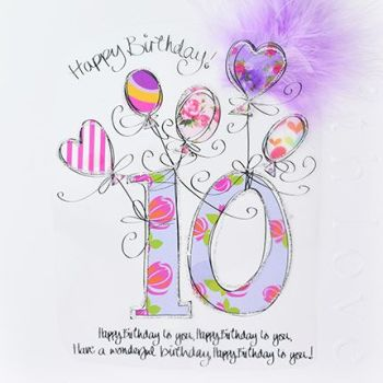 10th Birthday Card - LUXURY Embellished Boxed BIRTHDAY Card - 10th Birthday - KIDS Birthday Cards - Birthday CARD For Daughter - GRANDDAUGHTER