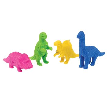 Children's Erasers - SET Of 4 - DINOSAUR Bag Of ERASERS - NOVELTY Erasers - DINOSAUR ERASERS - Kids ERASERS - Pencil ERASERS - School ERASERS
