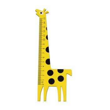 Children's Ruler - 15cm Yellow GIRAFFE RULER - WOODEN Ruler - FUN Animal RULER - Kids RULERS - KIDS STATIONERY - 15CM RULER