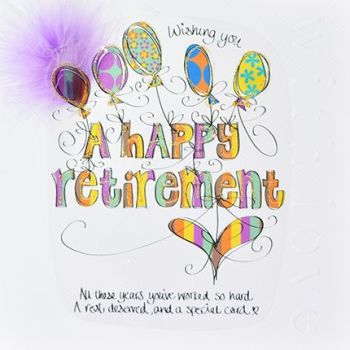 All Those Years You've Worked - RETIREMENT Cards - LUXURY Embellished Boxed RETIREMENT Card - LARGE CARD