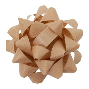 Eco Friendly Paper Gift Bows - BROWN - PACK Of 3 - RECYCLABLE Gift BOWS - Gift WRAP - Gift BOWS - BROWN Gift BOWS - 8cm BROWN Gift BOWS