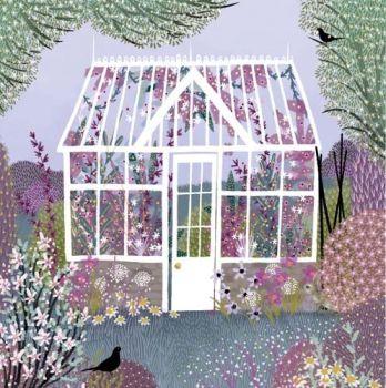 Blank Greeting Cards - BEAUTIFUL Garden GREETING Card - GREENHOUSE Greeting Card - BIRTHDAY Cards FOR Friend - GRANDMA - Nan - MUM - Wife