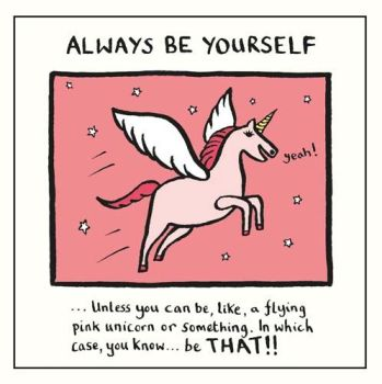 Friendship Greeting Cards - A FLYING Pink UNICORN - Inspirational BIRTHDAY Cards - BLANK Cards - Unicorn CARDS - Funny FRIENDSHIP Card FOR Her