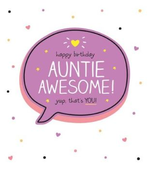 Awesome Auntie Birthday Card - AWESOME Yup That's YOU - FUNNY Auntie BIRTHDAY Card - Birthday CARD For AUNTIE - Special Auntie BIRTHDAY Cards