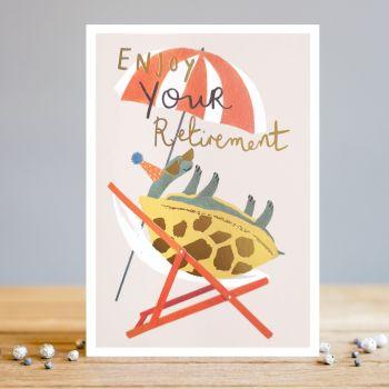 Funny Tortoise Retirement Greeting Card - ENJOY Your RETIREMENT - Retirement CARDS - Cute RETIREMENT Card