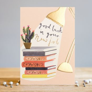 Good Luck In Your New Job - Gorgeous NEW Job CARD For HER - Job PROMOTION Greeting CARDS - Good LUCK Cards